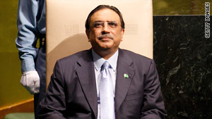 Pakistan's President Asif Ali Zardari favors the measure to reduce federal powers.