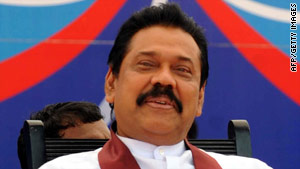 Sri Lanka President Mahinda Rajapaksa won January 26 presidential elections with a huge majority.