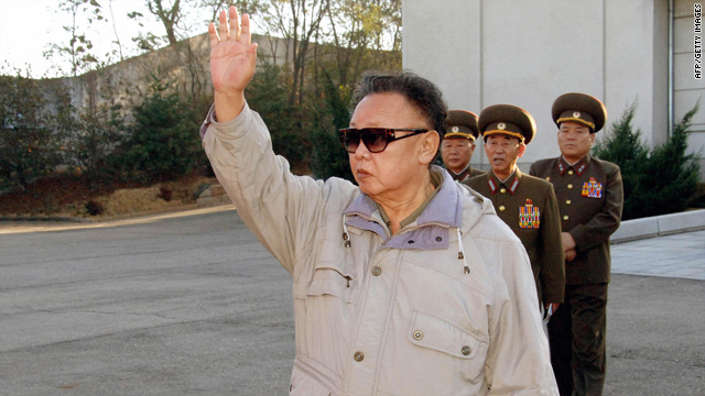 An undated picture released from Korean Central News Agency on November 6, 2008, shows Kim Jong Il inpsecting a drill ground of a sub-unit of Korean People's Army Unit 534 at an undisclosed location.