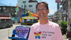 Ang Ladlad founder Danton Remoto says the party is focusing on human rights and anti-discrimination.