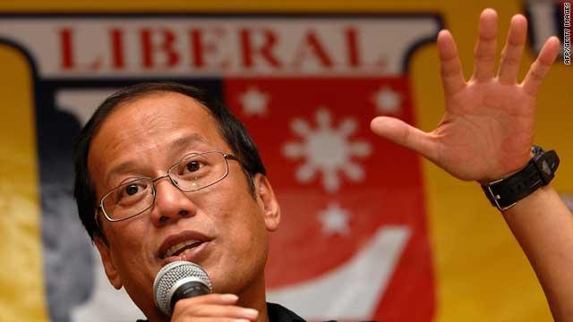 Senator Benigno Aquino has taken the lead in the race for the Philippine presidency.