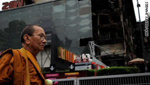 Clashes between anti-government protesters and troops caused extensive damage to Bangkok.