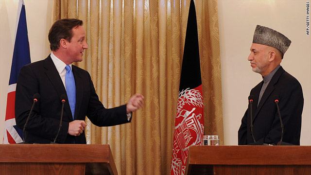 UK Prime Minister David Cameron pledged money to Afghanistan to counter the threat from IEDs.