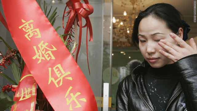 A Divorce Club in Shanghai, China, provides counseling, social events and divorce parties, as seen in this 2006 picture.