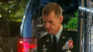 Gen. Stanley McChrystal took the fall for the failure of the U.S. war effort, a Taliban website claims.