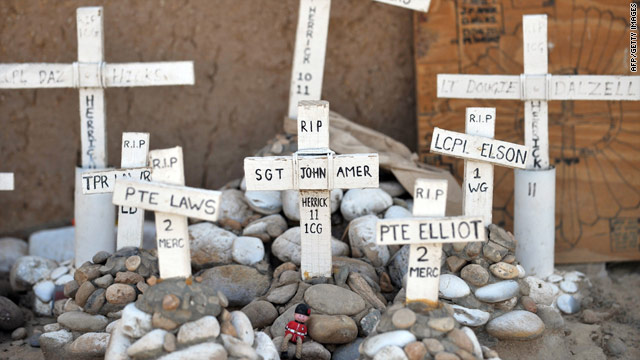 A commemorative memorial to British soldiers has been placed at a patrol base in Helmand province.