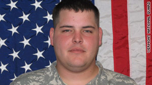Spc. Ryan J. Grady died when his vehicle struck a roadside bomb in Afghanistan.