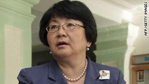 Roza Otunbayeva became interim leader after President Kurmanbek Bakiyev was ousted in April.