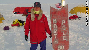 Lei Wang skied on the North Pole and the South Pole and climbed the seven summits on every continent.