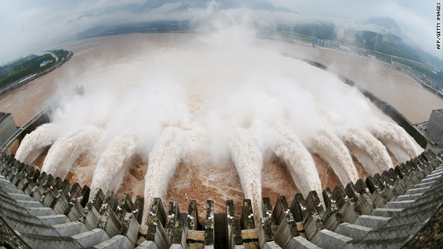 The giant Three Gorges Dam which spans China's Yangtze River was finally completed in 2009.