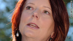 Gillard said she would embrace the Carbon Pollution Reduction Scheme that her predecessor delayed.