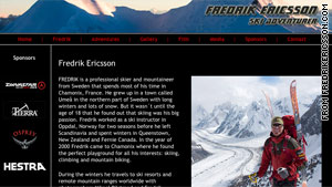 Professional skier Fredrik Ericsson was attempting to become the first man to ski from the summit to base camp.