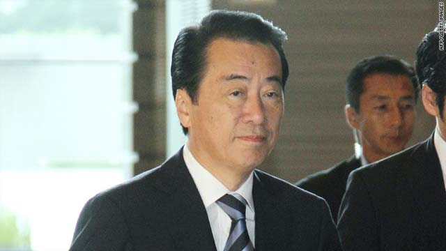 Japanese Prime Minister Naoto Kan, arriving at his official residence in Tokyo Tuesday, expressed deep regret over the suffering during Japan's colonial rule.