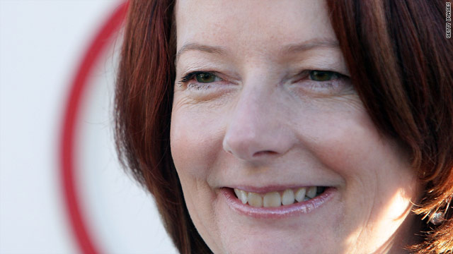Australia Prime Minister Julia Gillard campaigns on Tuesday ahead of Saturday's election.