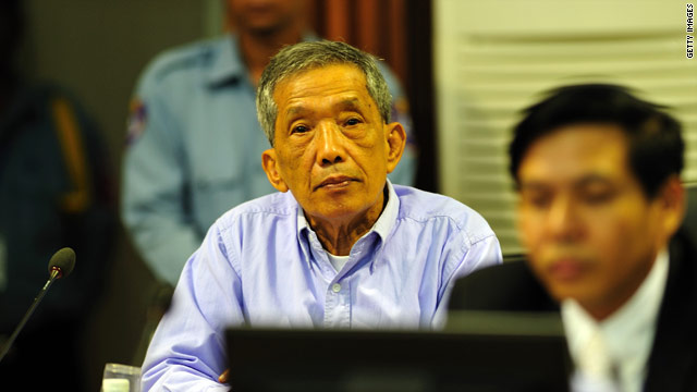 "Kaing Guek Eav, also known as ""Duch"" sits in the courtroom July 26, 2010 in Phnom Penh province."