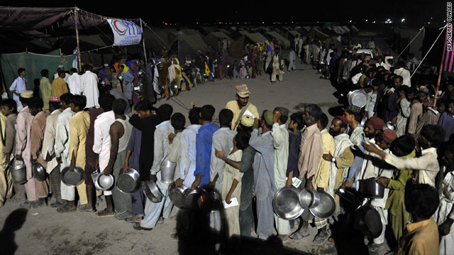 Millions of people in Pakistan are totally dependent on outside aid for the basics -- food, water and shelter.