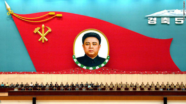 A national meeting at the Pyongyang Indoor Stadium on August 24 marks the 50th anniversary of leader Kim Jong Il's start of the Songun revolutionary leadership. Photograph released by North Korea's Central News Agency.