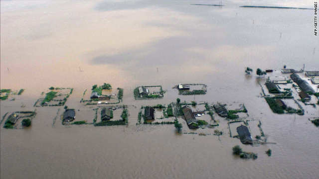 A North Korean Central News Agency picture shows flooding in North Pyongyan province. South Korea's Red Cross has offered North Korea aid worth $8.3 million following severe floods that have washed away homes, roads, railways and farmland.