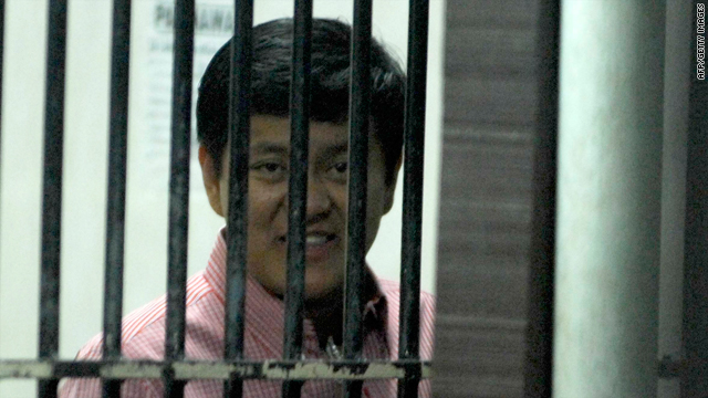 Datu Unsay Mayor Andal Ampatuan Jr. is pictured in his cell in Manila before a court appearance in January.