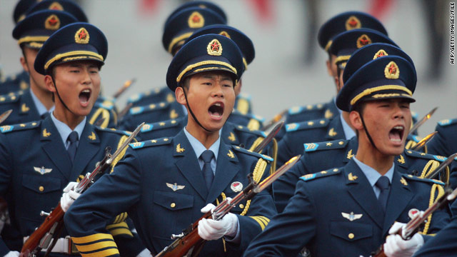 Chinese naval personnel engage in a ceremony in 2007.