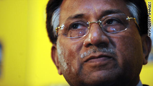 Former Pakistan president Pervez Musharraf speaks to the press in Hong Kong on Wednesday.