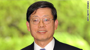 New candidate for prime minister Kim Hwang-Sik.