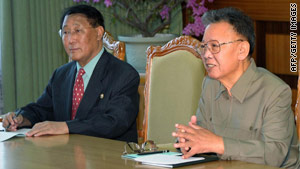 Kang Sok Ju, pictured left in January 2009, is a close confidant of Kim Jong Il