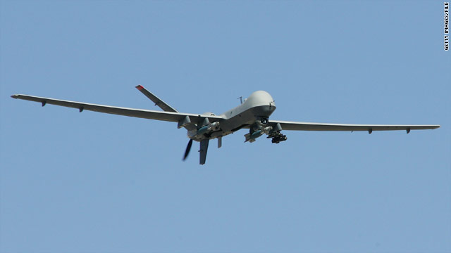 Officials say strikes in Pakistan by drones like the MQ-9 Reaper have not stopped some militants' desire to travel there.