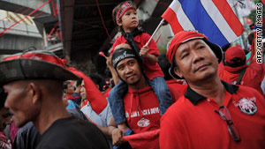 Red Shirt protesters returned to the streets of Bangkok last month.