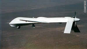 A file photograph of a 'Predator' drone similar to the type used by the U.S. military in Afghanistan and Pakistan.