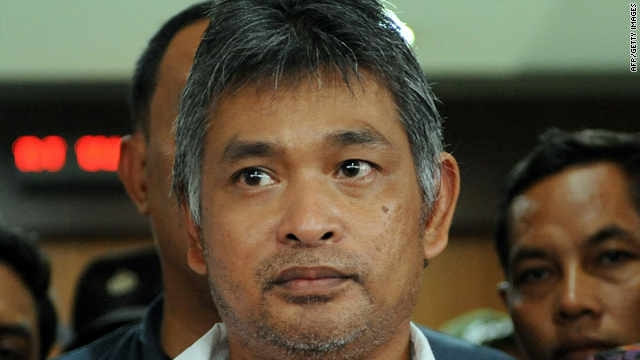 Prosecutors take Erwin Arnada to jail in Jakarta, Indonesia, on Saturday.