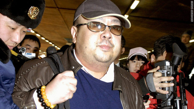 A file photo believed to be of Kim Jong-Il's eldest son, Kim Jong-Nam, arriving at Beijing airport on February 11, 2007.