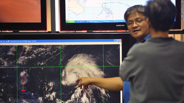The Philippines' government is alarmed by the speed and strength of the typhoon, one official said.