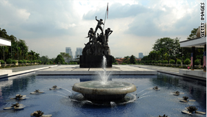 """Malaysia's """"National Monument"""", in honor of those who died fighting for their country's independence."""