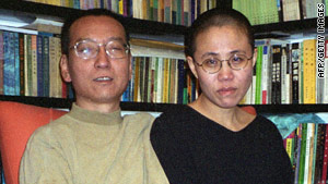 Liu Xiaobo, a leading Chinese dissident, and his wife, Liu Xia, are seen in the 2002 photograph.