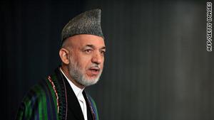 Afghan President Hamid Karzai.