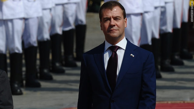 Russian President Dmitry Medvedev made the controversial the stop during an Asian tour.