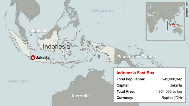 Map of indonesia cnn factbox sourced from cia world factbook publicscrutiny Choice Image