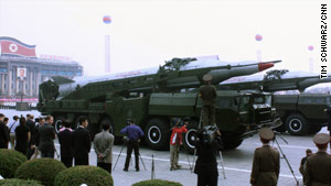 Missiles were prominently displayed during a Workers Party parade in Pyongyang, North Korea, in October.