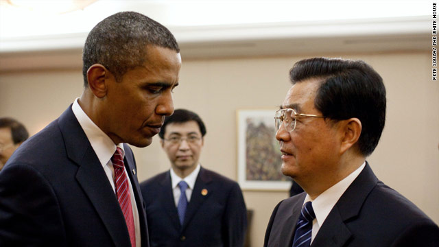 President Obama and Chinese President Hu Jintao met at the G-20 summit. They plan to talk again about the Korean crisis.