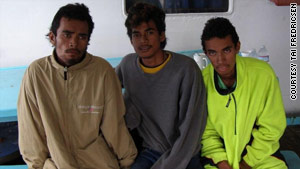 The three teen boys were famished and dehydrated when rescuers found them after nearly two months at sea.