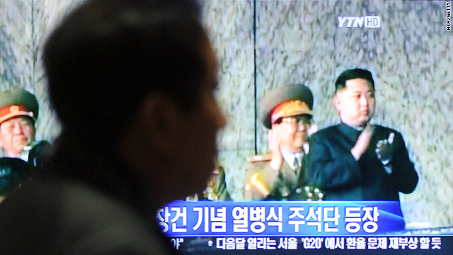 A S. Korean commuter watches Kim Jong Un, son of the N. Korean leader Kim Jong Il, on TV,  October 10, 2010.