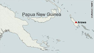 An earthquake with a preliminary magnitude of 6.1 struck the island of Papua New Guinea early Monday.