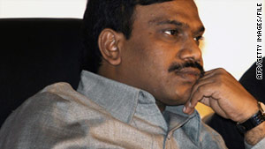 Premises belonging to relatives of former telecommunications minister A. Raja were among those raided.