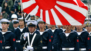 Members of Japan's Maritime Self-Defense Force take part in a parade in October.