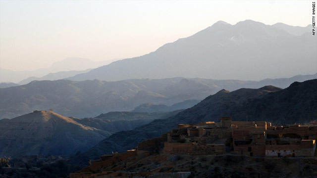 Mountains in the tribal area of the Khyber Agency near Pakistan's border with Afghanistan, pictured in 2008.