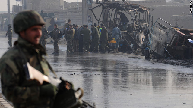 The Taliban claimed responsibility for the two suicide attacks which left nine dead in Kabul on December 19, 2010.