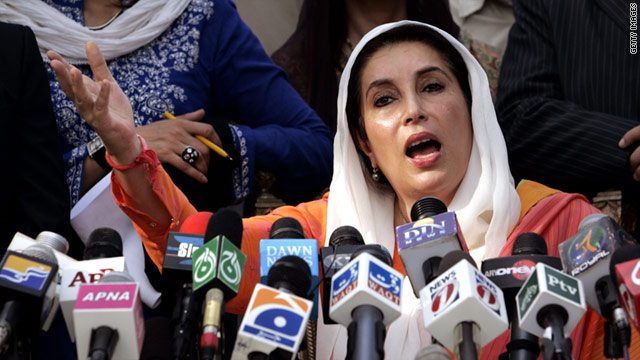 Former Prime Minister Benazir Bhutto was assassinated in December 2007 after returning to Pakistan from a self-imposed exile.