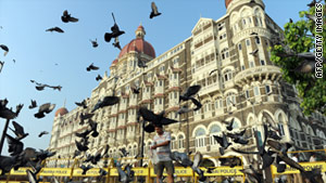 Mumbai's Taj Mahal Palace hotel is shown in November, two years after terrorists attacked it. Mumbai is now on alert.