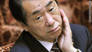 Japanese Prime Minister Naoto Kan has cut new bond issuance but has allowed tax revenue to exceed it again.
